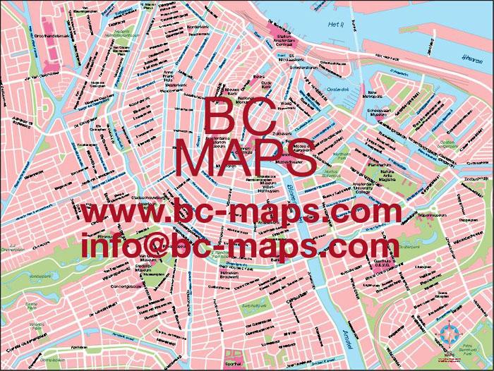 Amsterdam fond de carte vectoriel Illustrator