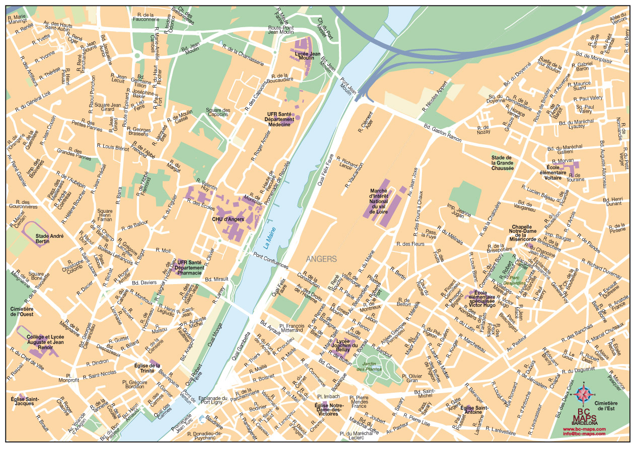 Angers fond de carte vectoriel illustrator eps