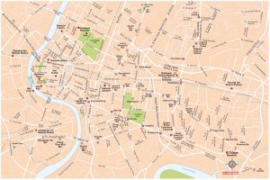 Bangkok fond de carte vectoriel illustrator eps