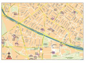 Bobigny fond de carte vectoriel illustrator eps