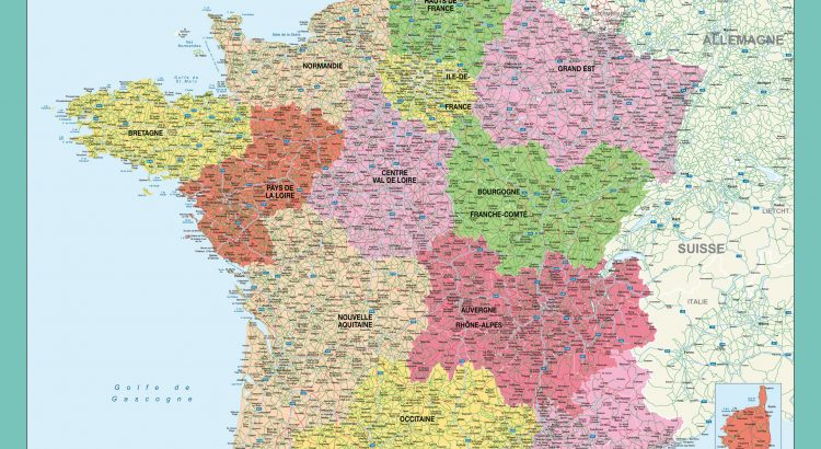 Fond de carte vectoriel France Administrative