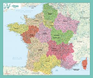 Carte murale de la France Administrative Lil Ones