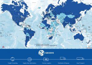 Carte bureau monde politique Geodis