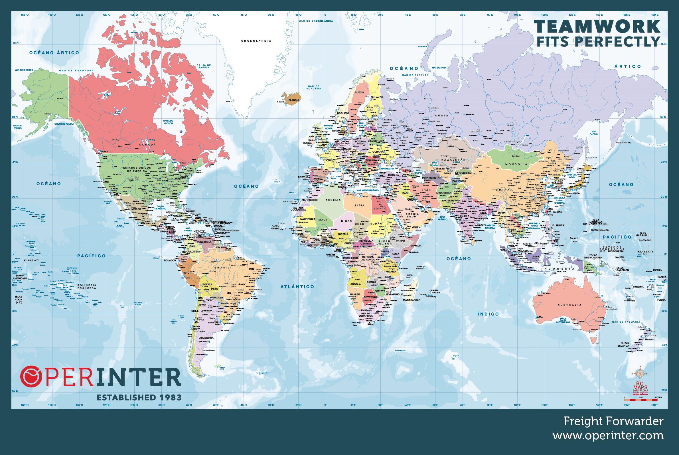 Carte du monde Operinter