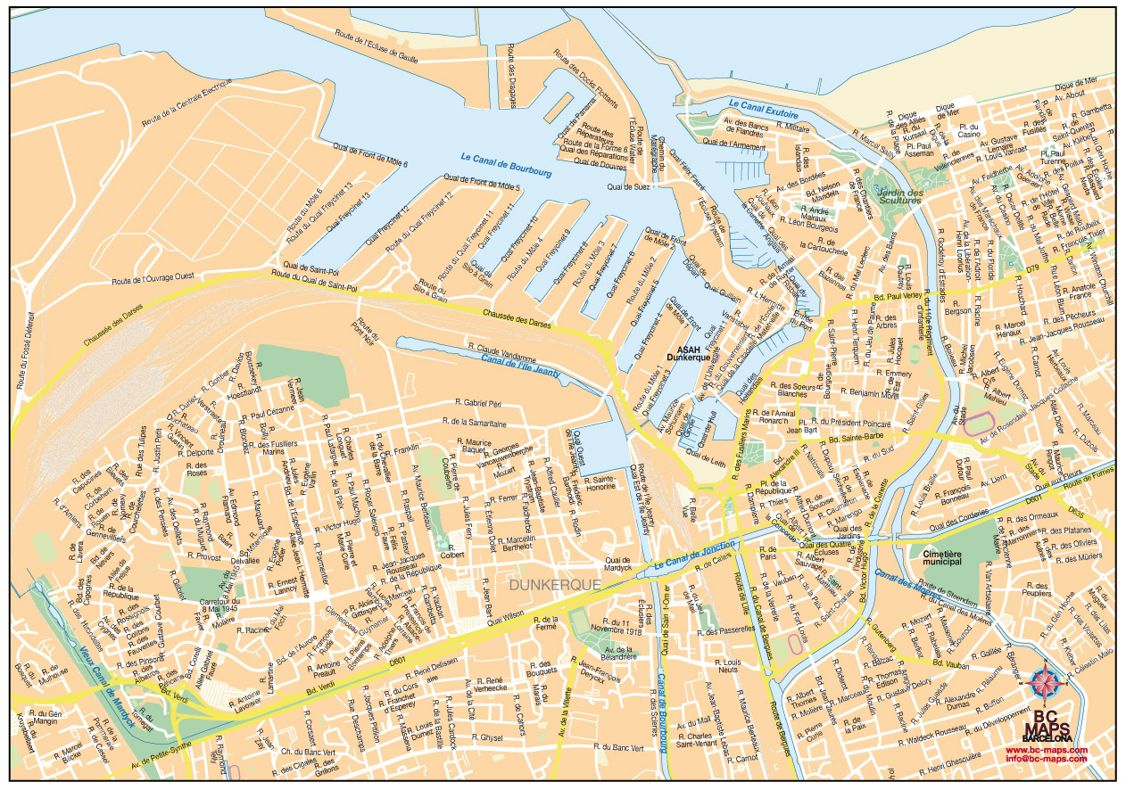 Dunkerque fond de carte vectoriel illustrator eps
