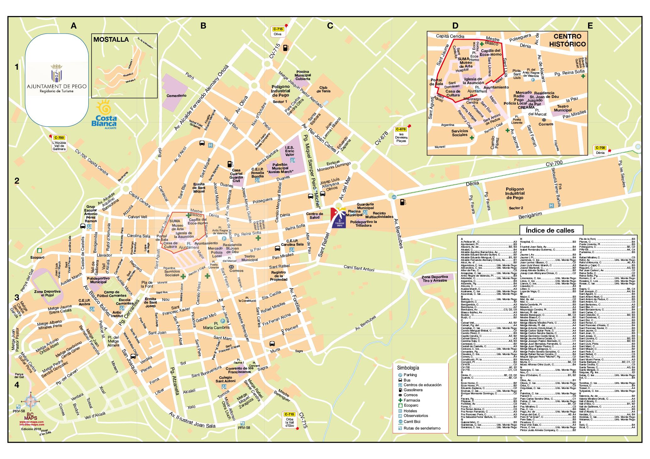 Mapa Ayuntamiento Pego 2016