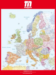 Carte mural d'Europe codes postaux Moiroud