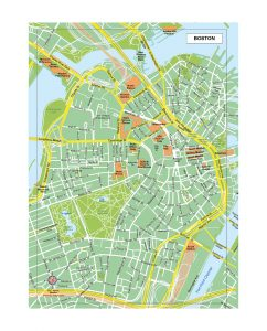 Boston carte vectoriel ,fond de carte illustrator eps