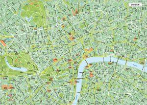 Londres plan de ville fond de carte vectoriel illustrator eps