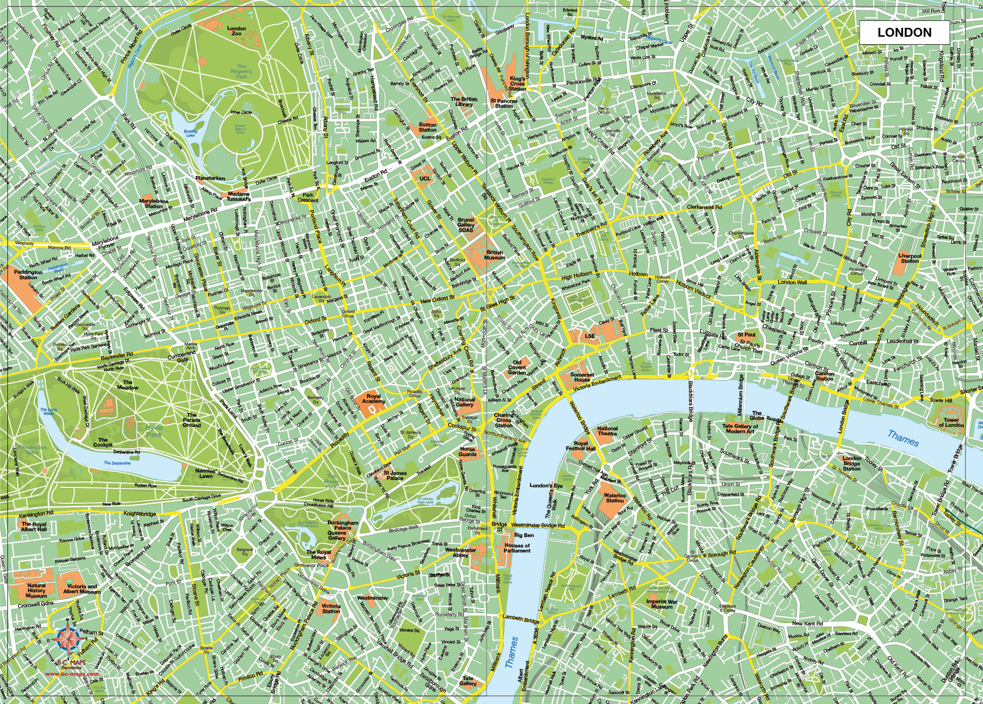 London mapa vectorial illustrator eps