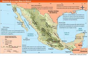 Carte vectoriel Mexico illustrator eps Manuel scolaire