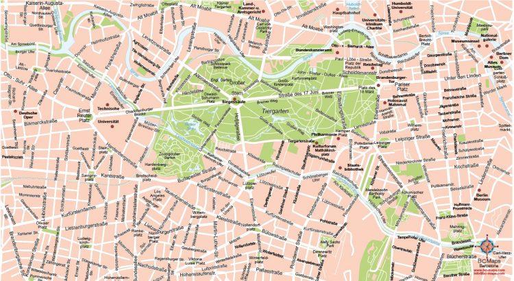 Berlin plan de ville fond de carte vectoriel illustrator eps