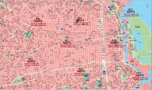 Buenos Aires fond carte vectoriel illustrator eps