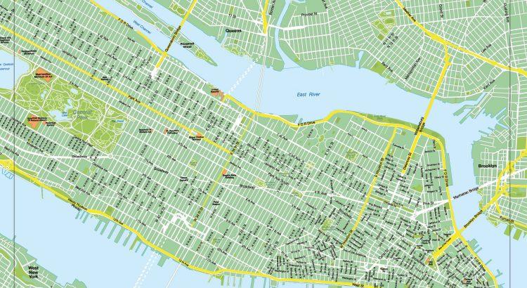 New York plan de ville fond de carte vectoriel illustrator eps