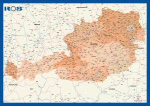 Autriche fond carte vectoriel illustrator eps