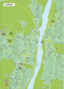 Augusta plan de ville fond de carte vectoriel illustrator eps