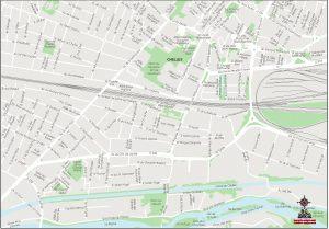 Chelles Plan de ville carte vectorielle illustrator