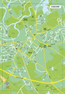 Concord plan de ville fond de carte vectoriel illustrator eps