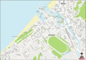 Deauville plan de ville fond de carte vectoriel illustrator eps