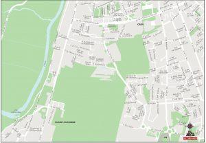 Fleury Sur Orne plan de ville fond de carte vectoriel illustrator eps