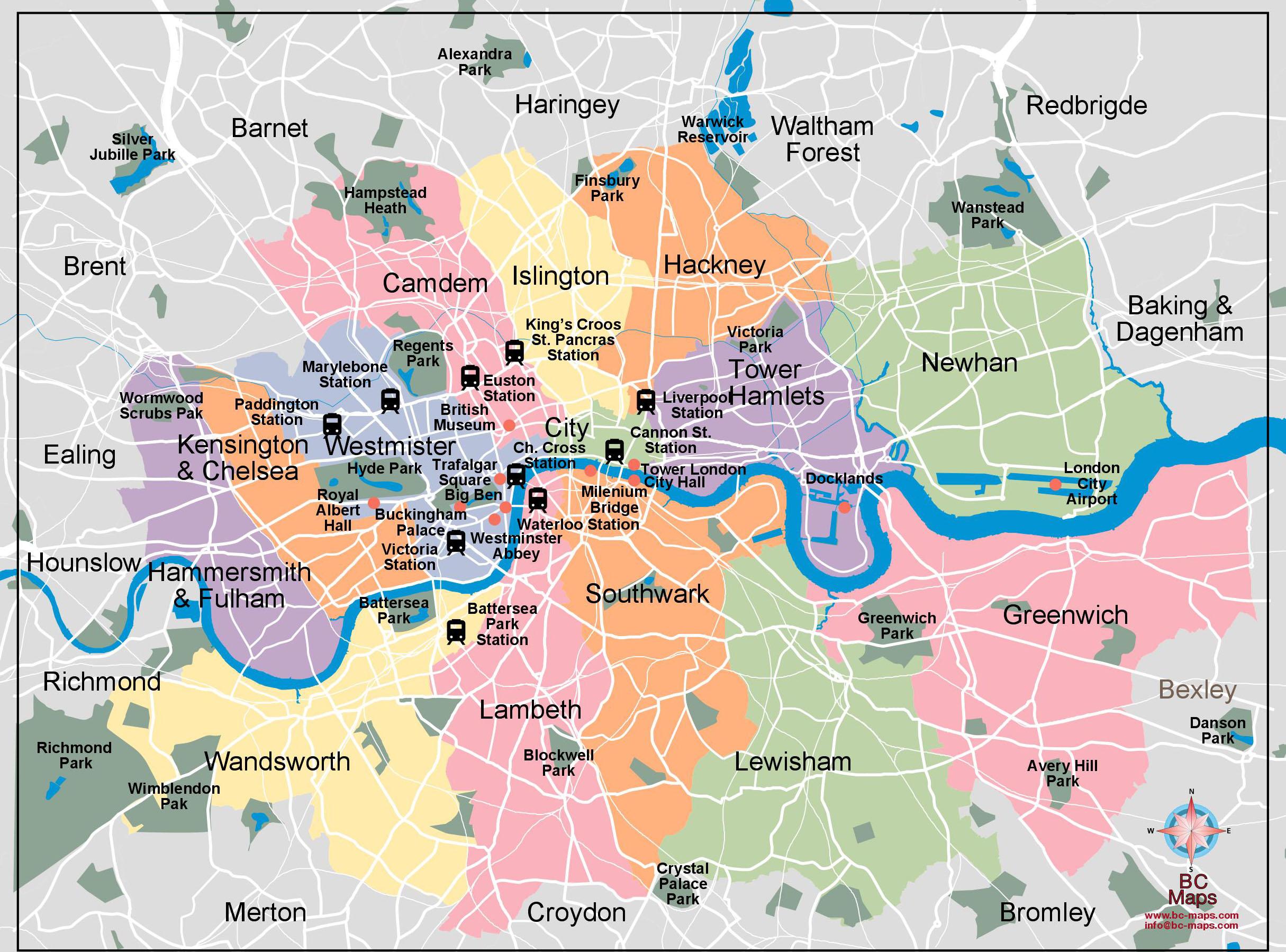 Londres plan de ville fond de carte vectoriel illustrator eps AM A5