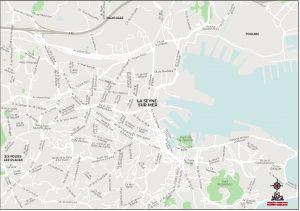 La Seyne sur Mer plan de ville fond de carte vectoriel illustrator eps