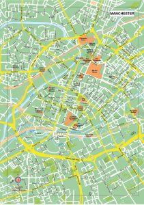 Manchester plan de ville fond de carte vectoriel illustrator eps