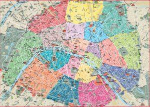 Arrond. Paris fond de carte vectoriel sous illustrator eps