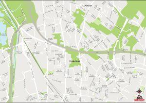 Toulouse plan de ville vectorielle illustrator eps