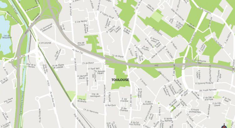 Toulouse Fond de carte vectorielle illustrator eps